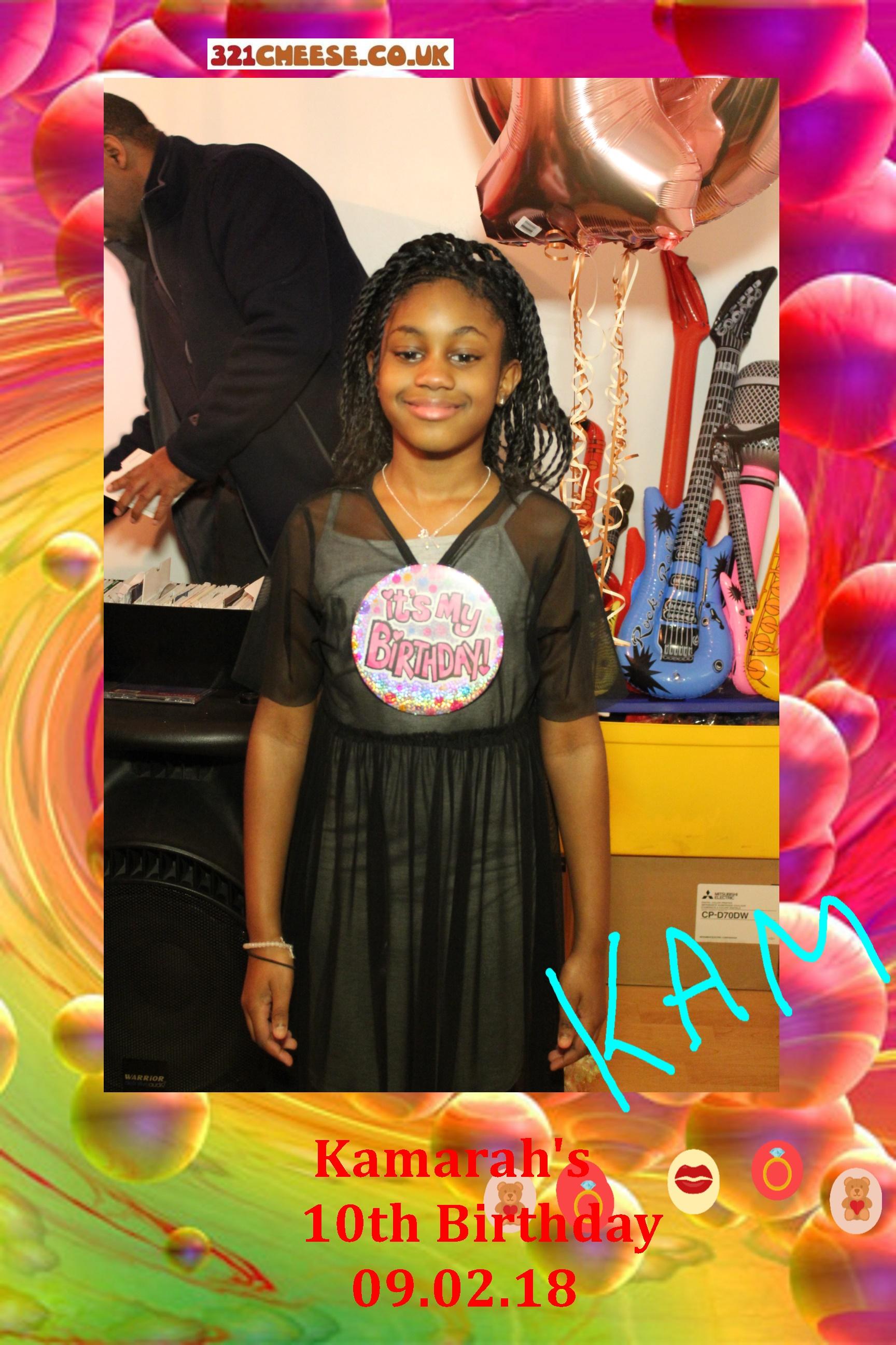 Kamarah's 10th Birthday